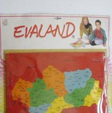 Puzzles: MAPA / PUZZLE DE ANDALUCIA. EVALAND DE 1991. SIN ESTRENAR. GOMA EVA.. Lote 56556847