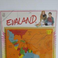 Puzzles: MAPA / PUZZLE, LAS RUTAS DEL DESCUBRIMIENTO. EVALAND 16008, AÑO 1991. SIN ESTRENAR. GOMA EVA.. Lote 56556893