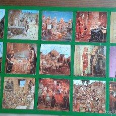 Puzzles: ANTIGUA CAJA CON 15 PUZLES DE LA PELICULA LOS DIEZ MANDAMIENTOS AÑOS 50 -60 . Lote 56677150