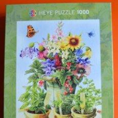 Puzzles: PUZLE - PUZZLE DE 1000 PIEZAS - FLORES Y MACETAS - HEYE - MAYOLEIN BASTIN. Lote 56693763