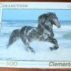 Puzzli: PUZLE - PUZZLE DE 500 PIEZAS - CLEMENTONI - CABALLO NEGRO. Lote 56703202