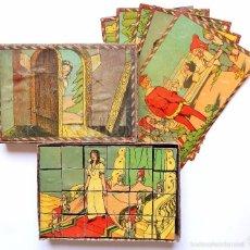 Puzzles: JUEGO ROMPECABEZAS DE BLANCANIEVES Y LOS 7 SIETE ENANITOS AÑOS 30 - 40 COMPLETO. Lote 57220514