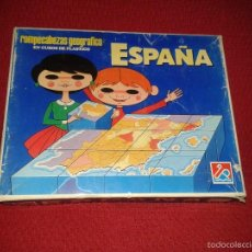 Puzzles: ROMPECABEZAS GEOGRAFICO ESPAÑA (CUBOS) AÑOS 70. Lote 57490920