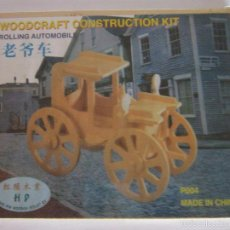 Puzzles: WOODCRAFT CONSTRUCTION KIT, ROLLING AUTOMOBILE. CC. Lote 57842633