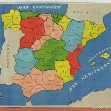 Puzzles: JUEGO INSTRUCTIVO GEOTÁRSICO. PUZZLE. MAPA DE ESPAÑA CON SUS PROVINCIAS. CIRCA 1950. . Lote 57986865