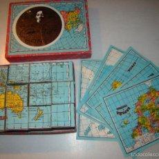 Puzzles: ANTIGUO PUZZLE DE CUBOS - MAPAS. Lote 58220287