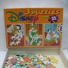 Puzzles: EDUCA REF: 6.446 - 3 PUZZLES DISNEY 101DÁLMATAS. Lote 58419084