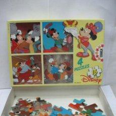 Puzzles: EDUCA REF: 626.3 - 4 PUZZLES DISNEY DE MICKEY Y DONALD. Lote 58419107