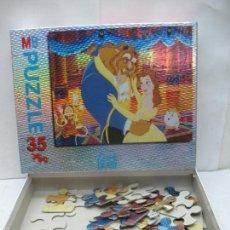 Puzzles: MB - PUZZLE DISNEY DE LA BELLA Y LA BESTIA DE 35 PIEZAS. Lote 58419156
