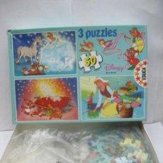 Puzzles: EDUCA REF: 6.844 - 3 PUZZLES DISNEY DE LA CENICIENTA. Lote 58419260