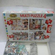 Puzzles: EDUCA REF: 7.260 - 4 PUZZLES DE FAMILIA DE CONEJOS. Lote 58419577