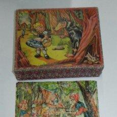 Puzzles: ROMPECABEZAS PUZLE DE CUBOS DE CARTÓN. BLANCA NIEVES, CAPERUCITA ROJA, (LITTLE RED RIDING HOOD), GAT. Lote 60503779