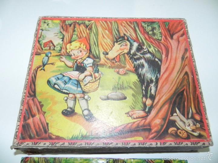 Puzzles: Rompecabezas puzle de cubos de cartón. Blanca nieves, Caperucita roja, (little Red Riding Hood), gat - Foto 2 - 60503779