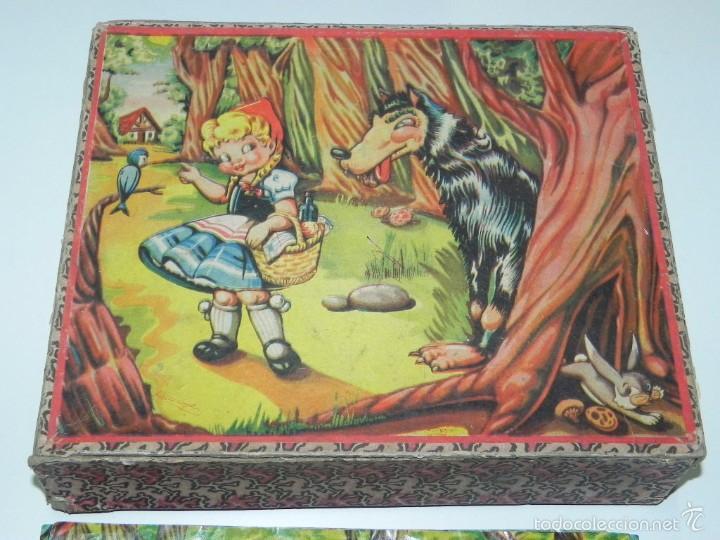 Puzzles: Rompecabezas puzle de cubos de cartón. Blanca nieves, Caperucita roja, (little Red Riding Hood), gat - Foto 3 - 60503779