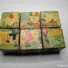 Puzzles: ANTIGUO PUZLE DADOS DE CARTON. Lote 64479339