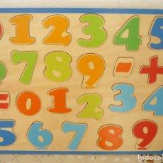 Puzzles: PUZZLE DE MADERA 24 PIEZAS DE NÚMEROS MEDIDAS 29.5 CM ALTO X 39.5 CM DE ANCHO MD298. Lote 64890811