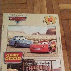 Puzzles: CAJA JUEGOS EDUCA CON DOS SUPER PUZZLES DE CARS + REGALO OTRO PUZZLE. Lote 67776889