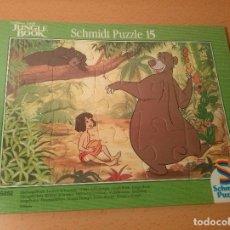 Puzzles: PUZZLE 15 PIEZAS DISNEY. EL LIBRO DE LA SELVA. MARCA SCHMIDT.. Lote 67982065