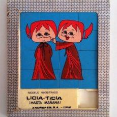 Puzzles: PUZZLE LABERINTO: LICIA Y TICIA, LOS TELEVICENTES ---EN SU CAJITA ORIGINAL---. Lote 68695057