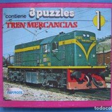 Puzzles: 4 JUEGO PUZZLE TREN DE MERCANCÍAS DE PAPIROTS. NO JUGADO. Lote 69929601