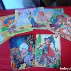 Puzzles: LOTE DE 7 PUZZLES DE DIBUJOS CLÁSICOS INFANTILES, 80 - 90. Lote 72900515