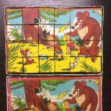 Puzzles: ANTIGUO ROMPECABEZAS DADOS CARTON AÑOS 50. Lote 75768815