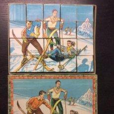 Puzzles: ANTIGUO ROMPECABEZAS DE CUBOS CARTON AÑOS 50. Lote 75768919