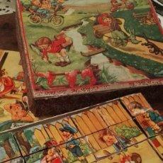 Puzzles: ANTIGUO PUZZLE ROMPECABEZAS DE DADOS DE CÁRTON- AÑOS 60. CAJA ORIGINAL.COMPLETO.. Lote 112839108