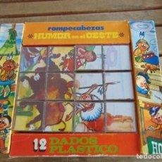 Puzzles: PUZZLE ROMPECABEZAS DE DADOS HUMOR EN EL OESTE DE PAPIROTS PARA MONTAR 6 DIFERENTES. Lote 77858405
