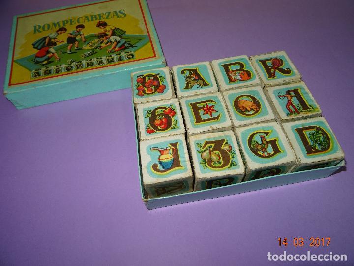 Puzzles: Antiguo Rompecabezas Abecedario con Cubos de Cartón y Papel Litografiados - Año 1940-50s. - Foto 2 - 80158225