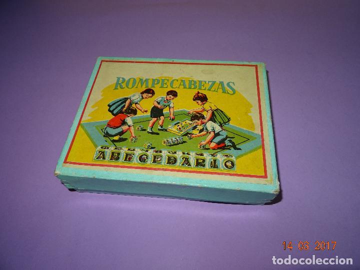 Puzzles: Antiguo Rompecabezas Abecedario con Cubos de Cartón y Papel Litografiados - Año 1940-50s. - Foto 3 - 80158225