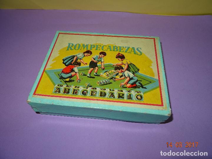Puzzles: Antiguo Rompecabezas Abecedario con Cubos de Cartón y Papel Litografiados - Año 1940-50s. - Foto 5 - 80158225