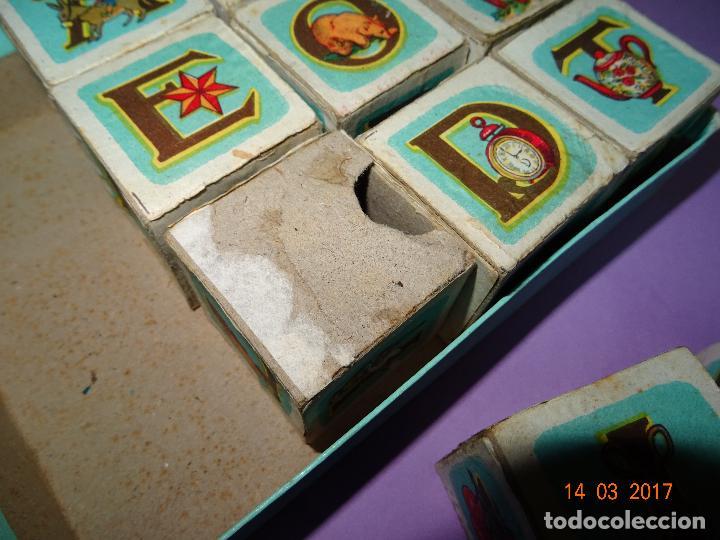 Puzzles: Antiguo Rompecabezas Abecedario con Cubos de Cartón y Papel Litografiados - Año 1940-50s. - Foto 6 - 80158225