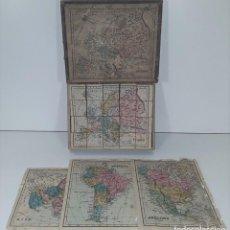 Puzzles: PUZZLE DE CUBOS. EUROPA Y CONTINENTES. MADERA. ESPAÑA. CIRCA 1950. Lote 80165481