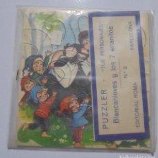 Puzzles: PUZZLE PUZZLER TUS PERSONAJES Nº 2. BLANCANIEVES Y LOS SIETE ENANITOS. EDITORIAL ROMA. 1969. Lote 80170757