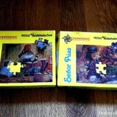 Puzzles: 2 ANTIGUOS PUZZLES EVERDIDAC. Lote 81738104