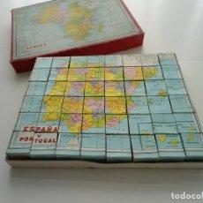 Puzzles: ANTIGUO PUZZLE ROMPECABEZAS DE 48 PIEZAS - ESPAÑA AFRICA OCEANIA AMERICA ASIA EUROPA - AÑOS 40. Lote 82769800