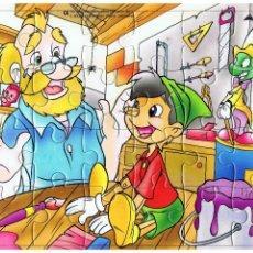 Puzzles: PUZZLE PINOCHO - DISTRIBUCIONES EL MUNDO DEL COMIC CON EL CUENTO ESCRITO DETRÁS - 24 PIEZAS MD473. Lote 83341216