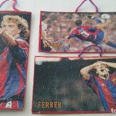 Puzzles: LOTE DE PUZZLE DEL FC BARCELONA - JORDI CRUYFF - KODRO Y FERRER - RAROS Y NUEVOS - SIN DESTROQUELAR. Lote 84584968