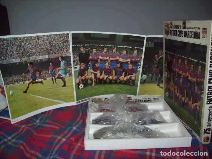 EXCELENTE PUZZLE 75 ANIVERSARIO FUTBOL CLUB BARCELONA,CAMPEÓN 1973/74. 3 PUZZLES 32 CM X 31 CM. (Juguetes - Juegos - Puzles)