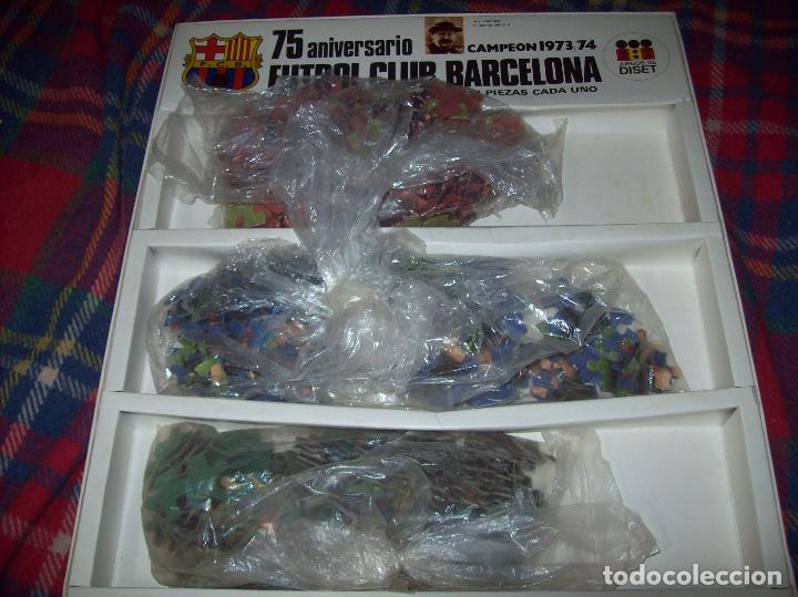 Puzzles: EXCELENTE PUZZLE 75 ANIVERSARIO FUTBOL CLUB BARCELONA,CAMPEÓN 1973/74. 3 PUZZLES 32 CM X 31 CM. - Foto 5 - 85366632