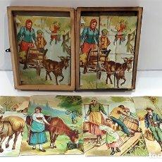 Puzzles: ANTIGUO PUZLE DE CUBOS INFANTIL. CARTÓN. CAJA ORIGINAL. ESPAÑA. CIRCA 1930.. Lote 85481944