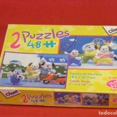 Puzzles: 2 PUZZLES INFANTILES, FAMILIA DE PERRITOS DE DISET, EN CAJA ORIGINAL, COMPLETOS. Lote 86937120