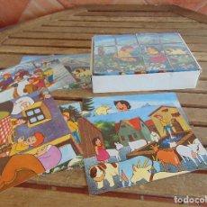 Puzzles: PUZZLE EN 12 DADOS DE PLASTICO DE LA SERIE DE DIBUJOS ANIMADOS HEIDI NO TIENE LA TAPA DE LA CAJA . Lote 86975928