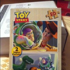 Puzzles: DOBLE PUZZLE MADERA TOY STORY 50 PIEZAS. Lote 89008428