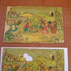 Puzzles: ANTIGUA CAJA CON 3 PUZZLES CON PIEZAS DE MADERA ( INCOMPLETOS ).PRINCIPIOS SIGLO XX.. Lote 92060665