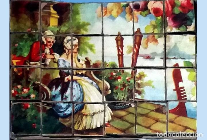 Puzzles: ANTIGUO Y PRECIOSO ROMPECABEZAS DE 20 CUBOS DE CARTON CON PAPEL LITOGRAFIADO - BONITAS ILUSTRACIONES - Foto 3 - 94779359