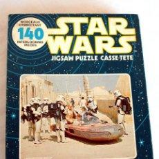 Puzzles: STAR WARS (EP. IV) • PUZZLE 140 PIEZAS 'LANDSPEEDER GROUP' • LA GUERRA DE LAS GALAXIAS, ORIG. 1977. Lote 95910431