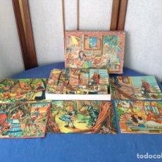 Puzzles: PUZZLE LA CENICIENTA EL GATO CON BOTAS LA BELLA DURMIENTE CAPERUCITA ROJA BLANCANIEVES. Lote 96370612