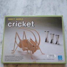 Puzzles: PUZZLE DE MADERA 3D. INSECT WORLD CRICKET. TOYWAY.. Lote 97116135